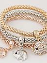 Femme Charmes pour Bracelets Strass Imitation de diamant Alliage Simple Style Mode Arc-en-ciel Bijoux 1set