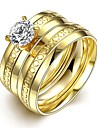 Ring Wedding / Party / Daily / Casual / Sports Jewelry Stainless Steel / Zircon Women Ring 1pc,6 / 7 / 8 / 9 Gold