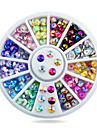 1pcs 4mm Nail Art Tips Sharp Glitter Crystal AB Colors Rhinestone Decoration Wheel