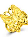Anel Aneis Grossos Ouro 18K ouro Formato Animal Borboleta Dourado Joias Para Festa Aniversario Diario Casual 1peca