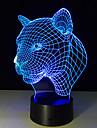 1개 3D 야간 조명 리모콘 나이트 비젼 작은 사이즈 색상-변화 예술적 LED 모던/콘템포라리