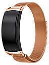 alca de substituicao de loop fecho magnetico de aco inoxidavel de malha milanesa para Samsung Galaxy engrenagem FIT2 sm-R360