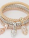 Mulheres Strass Imitacoes de Diamante Caveira Pulseiras com Pendentes - Luxo Multi Camadas Fashion Arco-Iris Pulseiras Para Presente