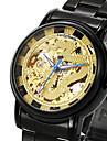 Муж. Часы со скелетом Модные часы Наручные часы С автоподзаводом / Нержавеющая сталь Группа Винтаж С подвесками Cool Повседневная Черный