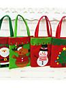 chrismas style mode noel sacs-cadeaux claus candy pochette sac a main presente sac decoration de Noel 2016 cadeau 1pc