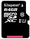 Kingston 64Go TF carte Micro SD Card carte mémoire UHS-1 Class10