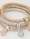 Femme Charmes pour Bracelets Imitation de diamant Alliage Simple Style Mode Arc-en-ciel Bijoux 1set