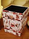 Hoge kwaliteit Afvalbak Bescherming,PU Leder / Hout