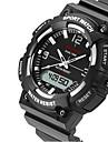 SANDA Hommes Montre de Sport Montre Militaire Smart Watch Montre Tendance Montre BraceletLED Chronographe Etanche Double Fuseaux Horaires