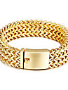 Men\'s Chain Bracelet Stainless Steel Gold Plated Jewelry Party Anniversary Birthday Gift Daily Casual