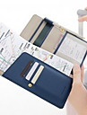 PU Leather Travel Wallet Passport Holder & ID Holder Waterproof Portable Dust Proof Travel Storage