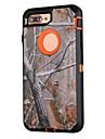 Для Защита от удара / Защита от пыли / С узором Кейс для Чехол Кейс для Камуфляж Твердый Силикон для AppleiPhone 7 Plus / iPhone 7 /