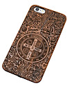 Pear Wood John Constantine Exorcism the Cross Carving Hard Back Cover for iPhone 6s 6 Plus