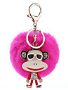 Key Chain Key Chain Sphere Metal Plush 1pcs Pieces Girls\' Gift