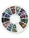 2000PCS 12-Color 1.5mm Circular Diamond Nail Art Decorations