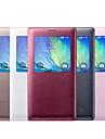 용 삼성 갤럭시 케이스 윈도우 / 플립 케이스 풀 바디 케이스 단색 인조 가죽 Samsung A3