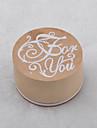 старинные цветочным узором слово круглый деревянный штамп (для вас)