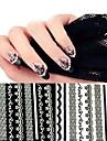 10 pcs dentelle ongles autocollants nail art conception nail outil accessoire