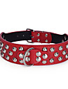 Dog Collar Adjustable / Retractable Studded Handmade Casual Christmas PU Leather Rose Brown Red Camouflage Color Leopard