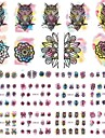 1pcs Water Transfer Sticker Nail Stamping Template Daily Fashion High Quality