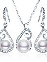 Pearl Jewelry Set - Pearl, Imitation Pearl, Rhinestone Include Silver For Wedding Party Daily / Imitation Diamond