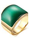 Muškarci Prsten Izjave Prsten Pečatni prsten - Titanium Steel Moda Jewelry Kava / Zelen Za Dnevno Kauzalni 8 / 9 / 10 / 11