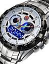 Муж. Спортивные часы Армейские часы Нарядные часы Модные часы Наручные часы Кварцевый Цифровой Календарь сплав Группа Кулоны Роскошь