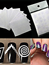 12pcs Diecut Manicure Pochoir Modele d\'estampage d\'ongles Quotidien Mode Haute qualite