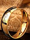 Erkek Band Yüzük Paslanmaz Çelik Moda Yüzükler Mücevher Altın Uyumluluk