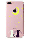 Capinha Para Apple iPhone X iPhone 8 Plus iPhone 7 iPhone 6 Capinha iPhone 5 Estampada Capa Traseira Gato Macia TPU para iPhone X iPhone