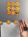 2 pcs Cute Round Cartoon Smile Emoji Face Refrigerator Sticker Fridge Magnet Toy  Random  Emoji