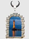 패션 풍경 3D 벽 스티커 플레인 월스티커 3D 월 스티커 데코레이티브 월 스티커,종이 자료 홈 장식 벽 데칼