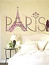 Романтика Мода Пейзаж Наклейки Простые наклейки Декоративные наклейки на стены,Бумага материал Украшение дома Наклейка на стену