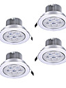 ZDM 4PCS 7W 750-850LM High power Dimmable LED Panel Lights Warm White Cool White Natural White AC110/220V/12V