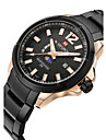 NAVIFORCE Wrist Watch Emitters Water Resistant / Water Proof, Calendar / date / day, Moon Phase Rose Gold / Black / Silver / White / Silver / Two Years / Stainless Steel / Two Years / Maxell SR626SW