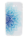 For Samsung Galaxy J7Prime J2Prime  phone Case Blue Flower Lace Embossed Pattern TPU Material High Penetration