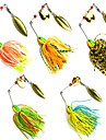 5 pcs Metal Bait Spinner Baits Buzzbait & Spinnerbait Lures Fishing Lures Buzzbait & Spinnerbait Metal Bait g / Ounce mm inch, Lead Metal
