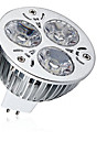1pc 9W 600-700lm MR16 Spot LED 3 Perles LED LED Haute Puissance Decorative Blanc Chaud Blanc Froid 12V