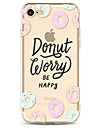 Pour Motif Coque Coque Arriere Coque Mot / Phrase Flexible PUT pour Apple iPhone 7 Plus iPhone 7 iPhone 6s Plus/6 Plus iPhone 6s/6