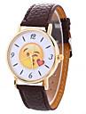 Женские Модные часы Наручные часы / Кварцевый PU Группа Мультфильмы Черный Белый Синий Красный Коричневый