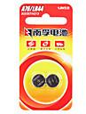 Nanfu de pile alcaline 1.5v pile bouton 2 pieces 140mAh pack