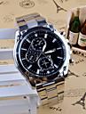 رجالي ساعة المعصم كوارتز ستانلس ستيل فضة مماثل سحر كاجوال موضة ساعة فستان - أبيض أسود