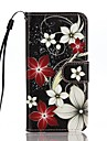Etui Til Apple iPhone 7 / iPhone 7 Plus Pung / Kortholder / Med stativ Fuldt etui Blomst Hårdt PU Læder for iPhone 7 Plus / iPhone 7 / iPhone 6s Plus