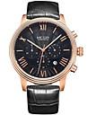 MEGIR Men\'s Fashion Watch Wrist watch Sport Watch Dress Watch Skeleton Watch Quartz Calendar Genuine Leather Band Charm Casual