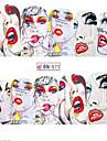 1pcs 12design Adesivos para Manicure Artistica Decalques de transferencia de agua maquiagem Cosmeticos Designs para Manicure