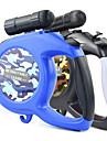 Dog Leash LED Lights Adjustable / Retractable Automatic Camouflage Nylon Black Blue