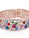 Mulheres Bracelete Joias Amizade Moda Cristal Liga Forma Geometrica Joias Para Aniversario