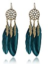 Women\'s Drop Earrings Jewelry Vintage Costume Jewelry Alloy Wings / Feather Jewelry For Party Daily Casual