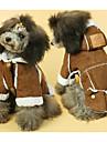 Собака Плащи Комбинезоны Одежда для собак Теплый Очаровательный На каждый день Однотонный Желтый Коричневый Костюм Для домашних животных