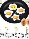 4pcs νέα σχεδίαση τέσσερα σχήματα ανοξείδωτο χάλυβα τηγανητά αυγό Shaper κρεμαστόψαρο μούχλα μούχλα εργαλεία μαγειρικής κουζίνα